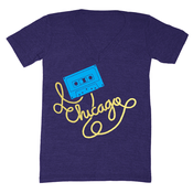 Image of Chicago Cassette Tape V-Neck - Unisex XXS