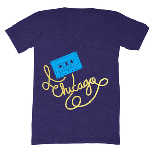 Image of Chicago Cassette Tape V-Neck