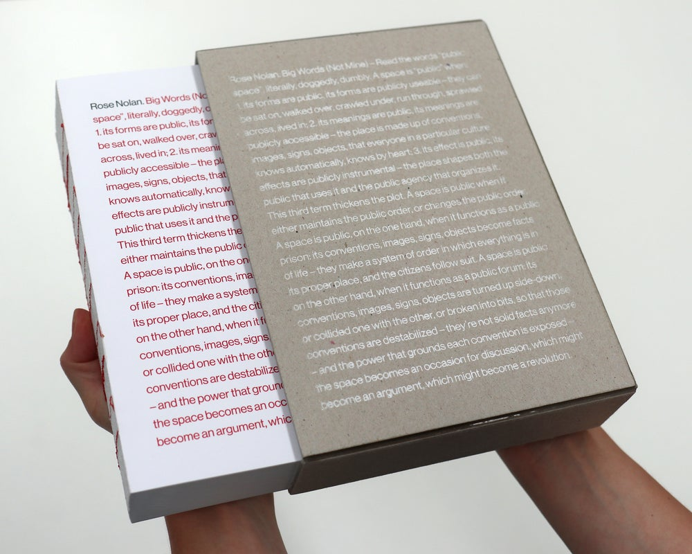 Image of <i>Big Words (Not Mine) - Read the words 'public space'... </i> (Special Edition)