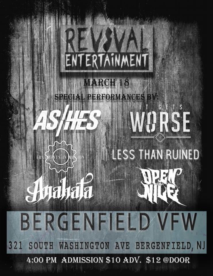 Image of 3/18 - ASHES w/ It Gets Worse, Anahata, and more!