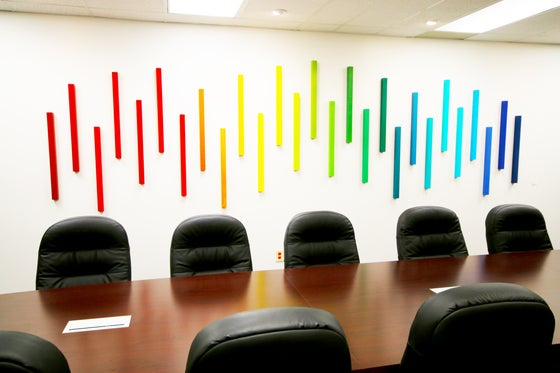 Image of 'IN HARMONY' | Corporate Art | 3D Art Wall Sculpture | Ombre Wall Art | Office Artwork