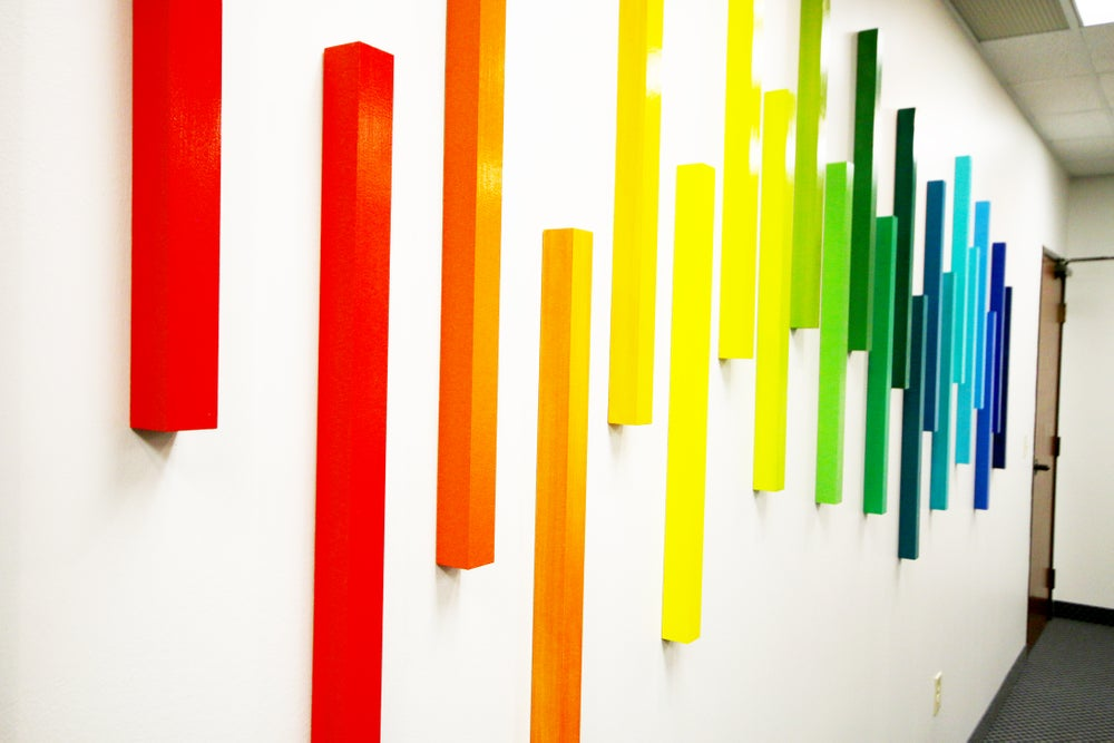 Corporate Art | 3D Art Wall Sculpture | Ombre Wall Art | Office ...