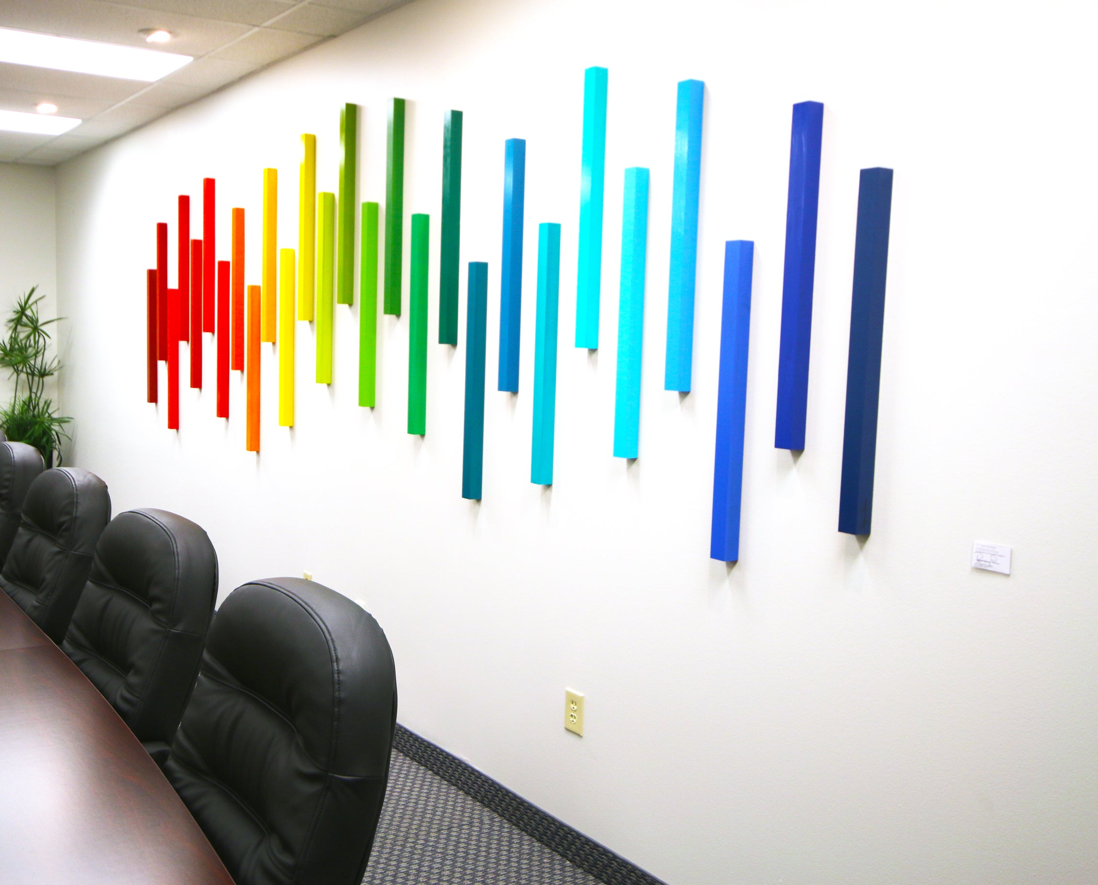 modern art for office. Image Of Corporate Art | 3D Wall Sculpture Ombre Office Artwork Modern For M