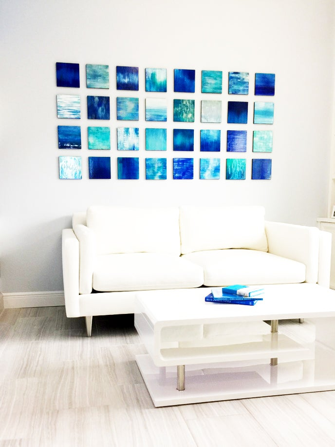 Image Of Blue Wall Art | Wood Wall Art | Modern Wall Sculpture | Abstract  Painting