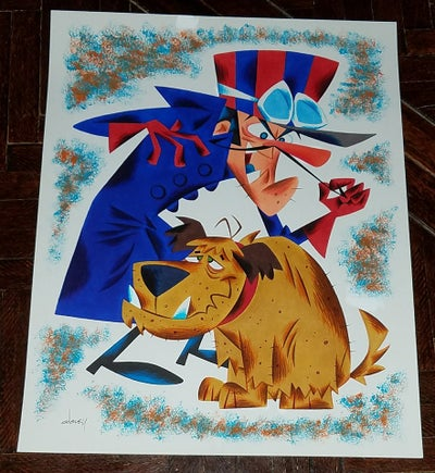 Image of DICK DASTARDLY and MUTTLEY 11x14 ORIGINAL ART