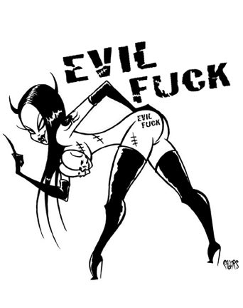 Image of EVIL FUCK - STICKER