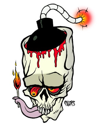 Image of BOMBED OUT OF MY MIND - STICKER