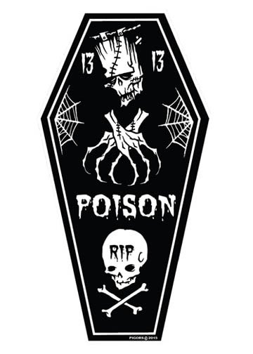 Image of POISON COFFIN - STICKER