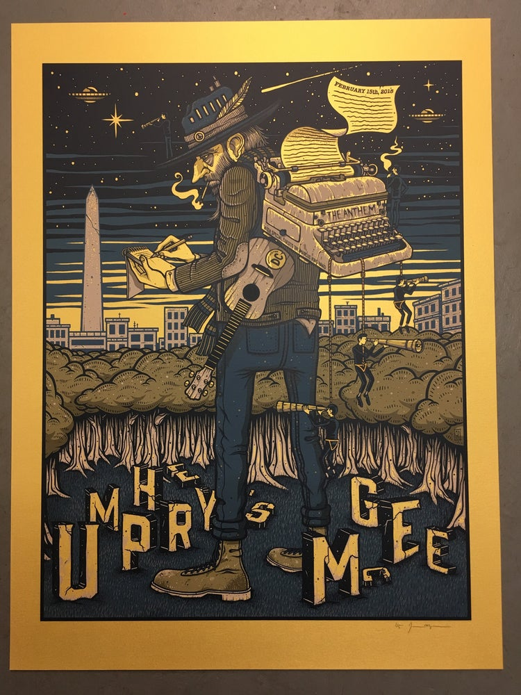Image of Umphrey's McGee - February 15th, 2018 - The Anthem - Gold Pearlescent Variant