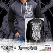 Image of VULVODYNIA - Lord of Plagues 2018 - Retro baseball ZIP hoodie