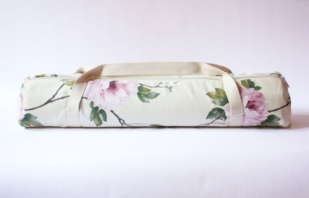 Image of Pink Flower Yoga Bag