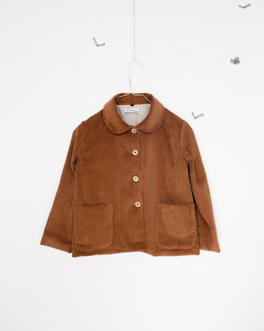 Image of caramel velvet vest