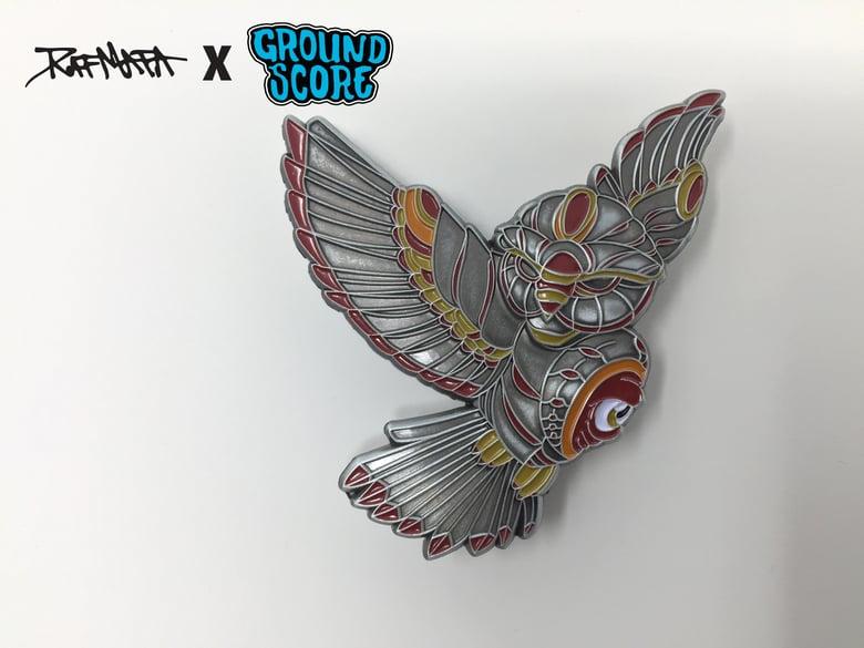 Image of Raf Mata - Mech Owl 3D Pin (LE 50)
