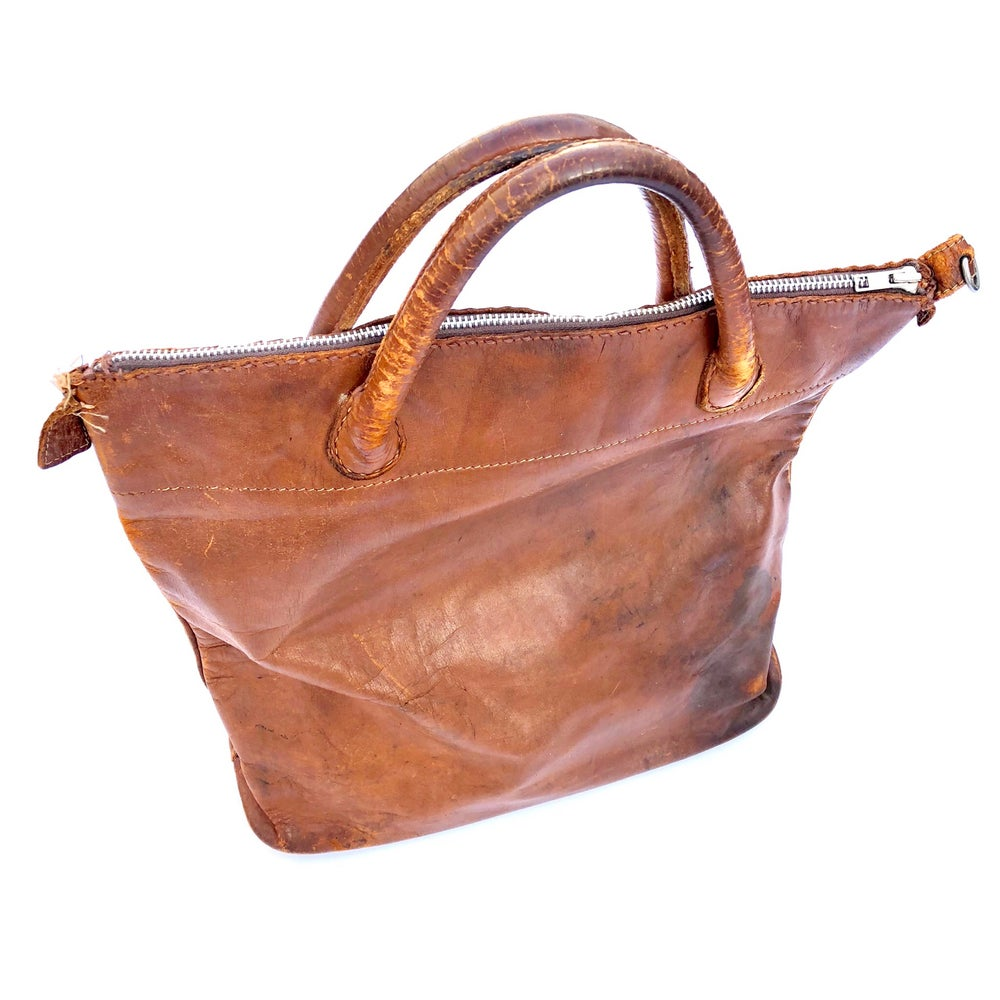 Image of 70's leather tote bag