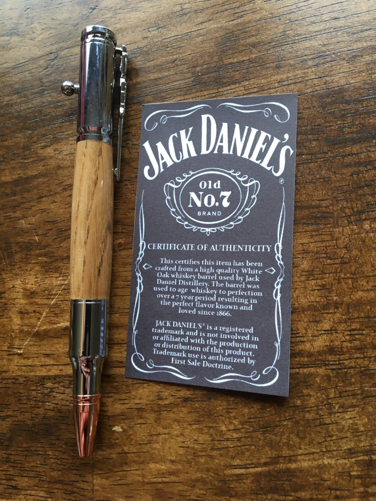 Image of Jack Daniels bolt Action pen