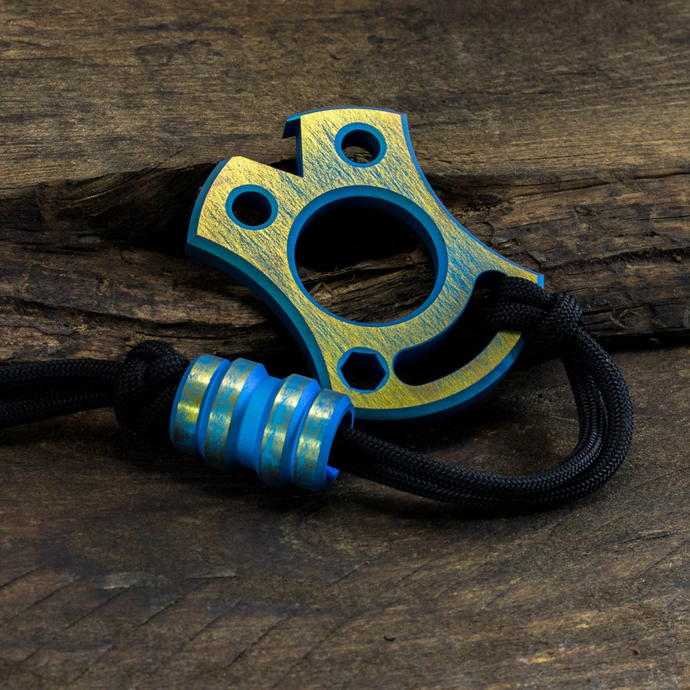 Image of Slim VonKnuck & Keg bead Combo Teal/Yellow #1