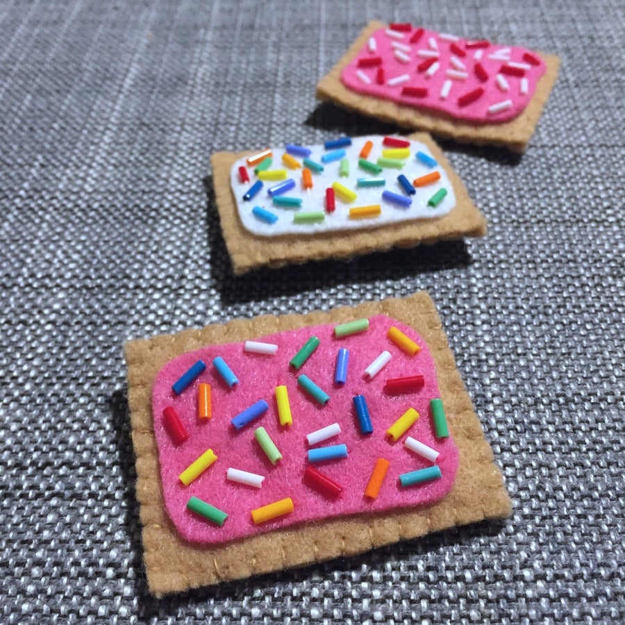 Image of tiny pop tart brooches
