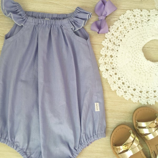 Image of Lavender love romper