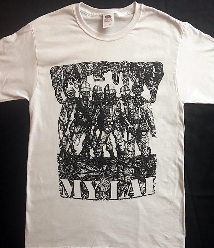 "Image of Impetigo "" My Lai "" White T shirt"