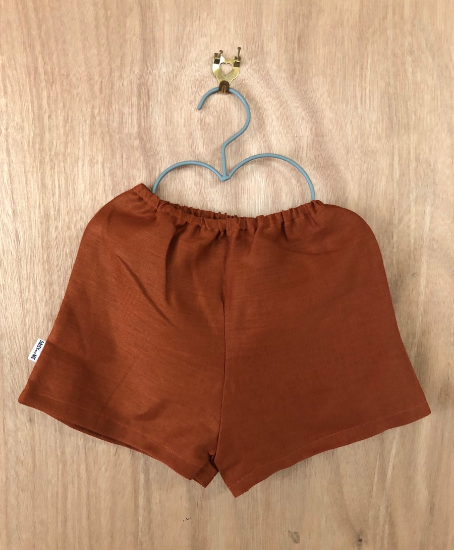 Image of Paprika Linen Shorts