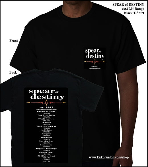 SPEAR of DESTINY est.1983 Range Black T-Shirt