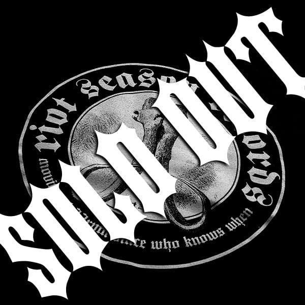 RIOT SEASON 'Skull/Tusks' 2015 Black T-Shirt