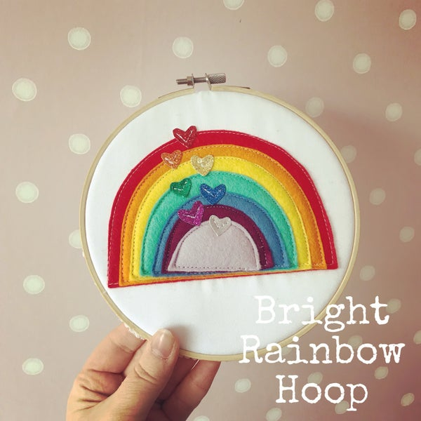Image of Rainbow Hoop Art