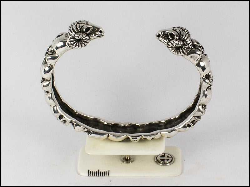 Image of Skulls and Ram Bracelet