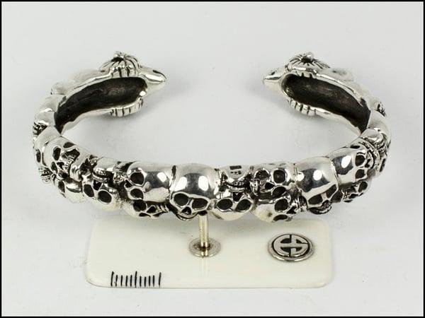 Image of Skulls and Ram Bracelet
