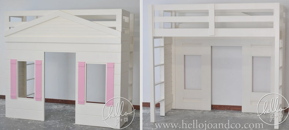 Image of Solid Wood Playhouse loft bed