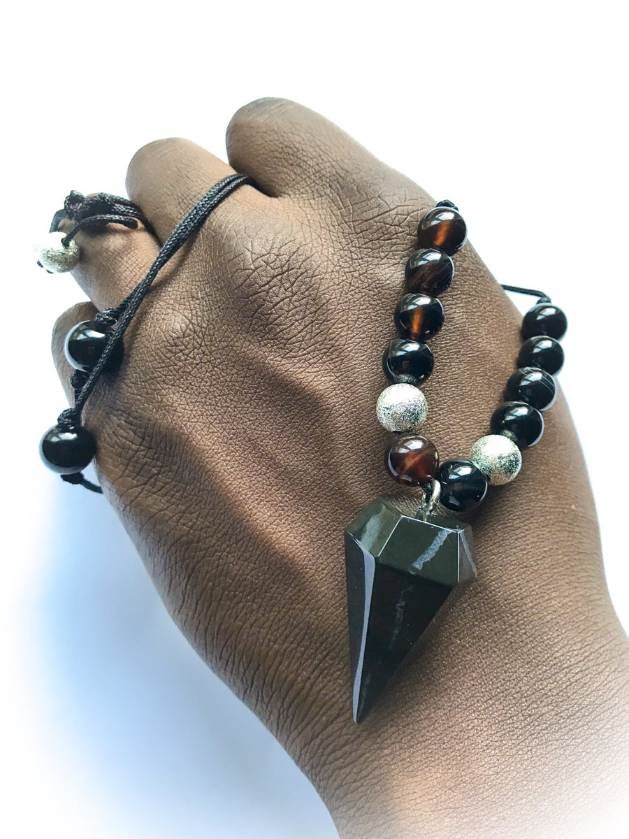 Image of WAKANDA beaded South African Onyx Pendulum