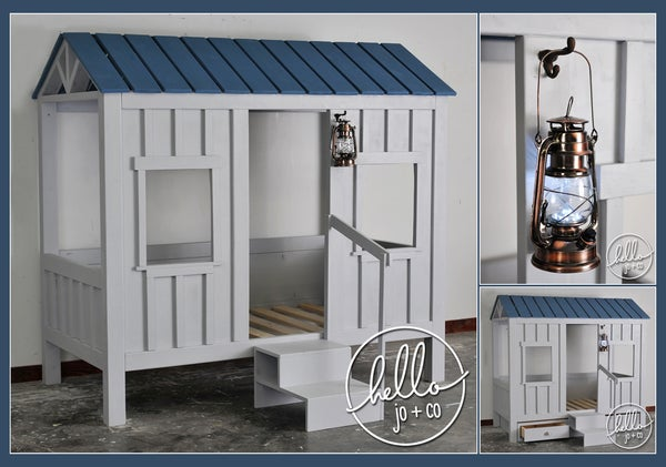 Image of Cabin Fort Playhouse Bed