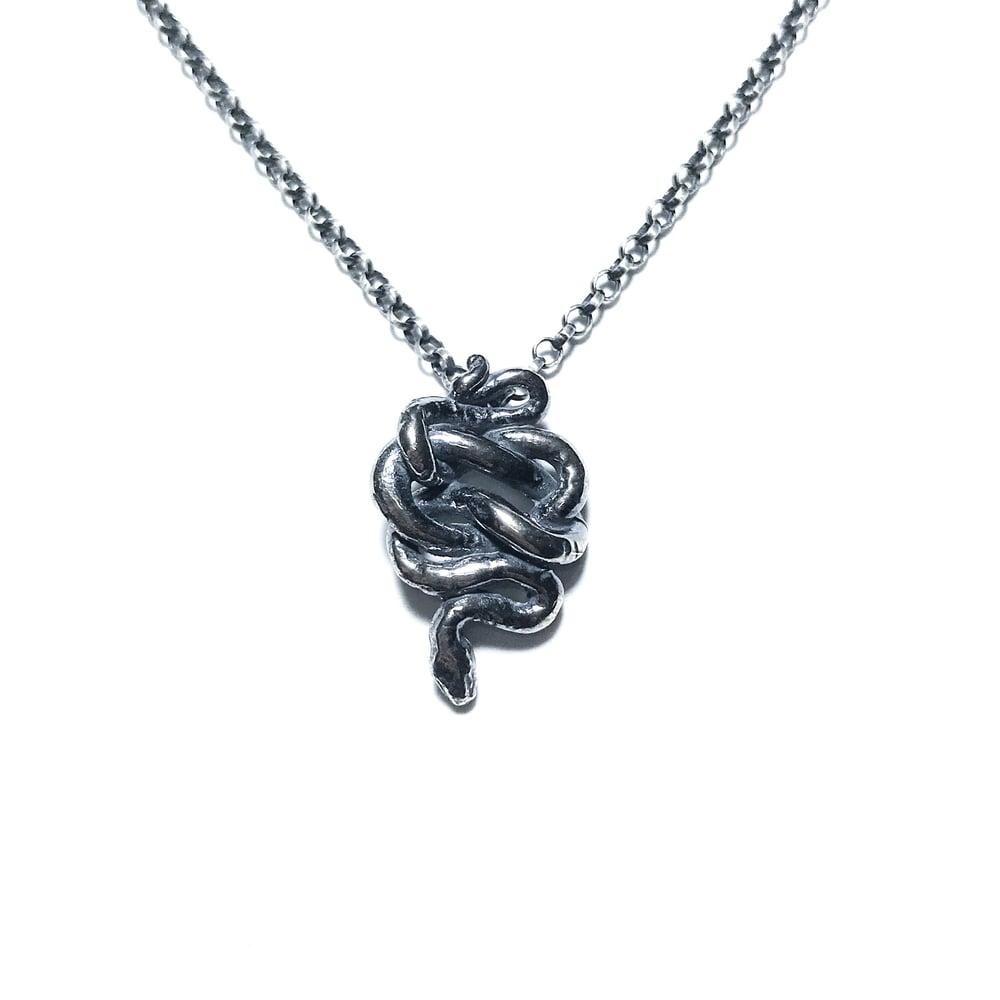 Little snake necklace in sterling silver arcana obscura image of little snake necklace in sterling silver aloadofball Images