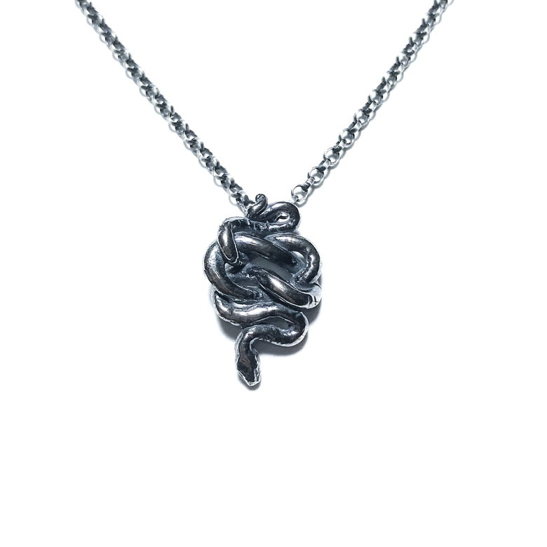 Image of Little Snake necklace in sterling silver or 14k gold