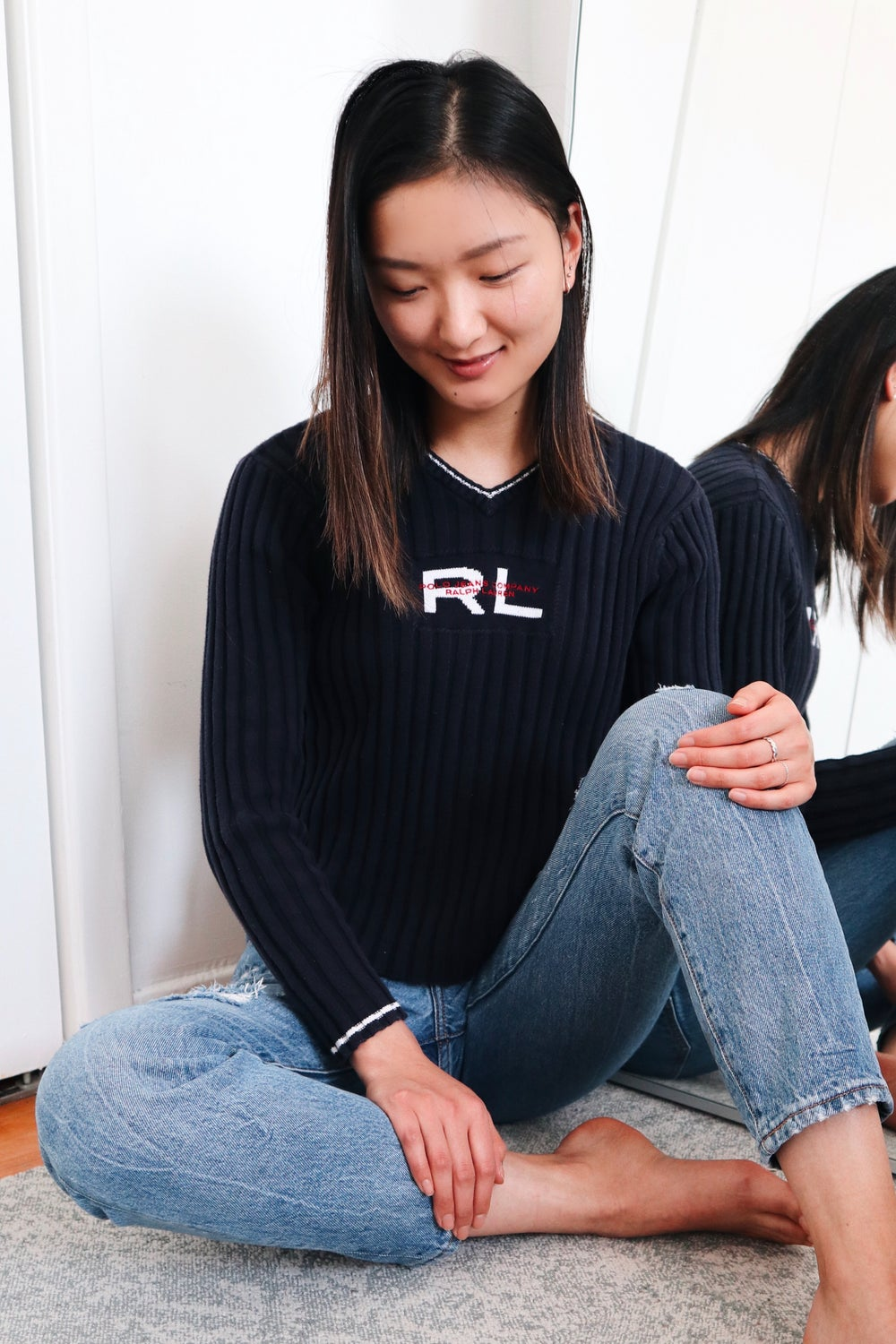 Image of VINTAGE RALPH LAUREN RIBBED SWEATER