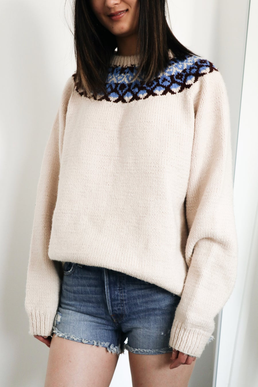 Image of FAIR ISLE VINTAGE KNIT CREWNECK
