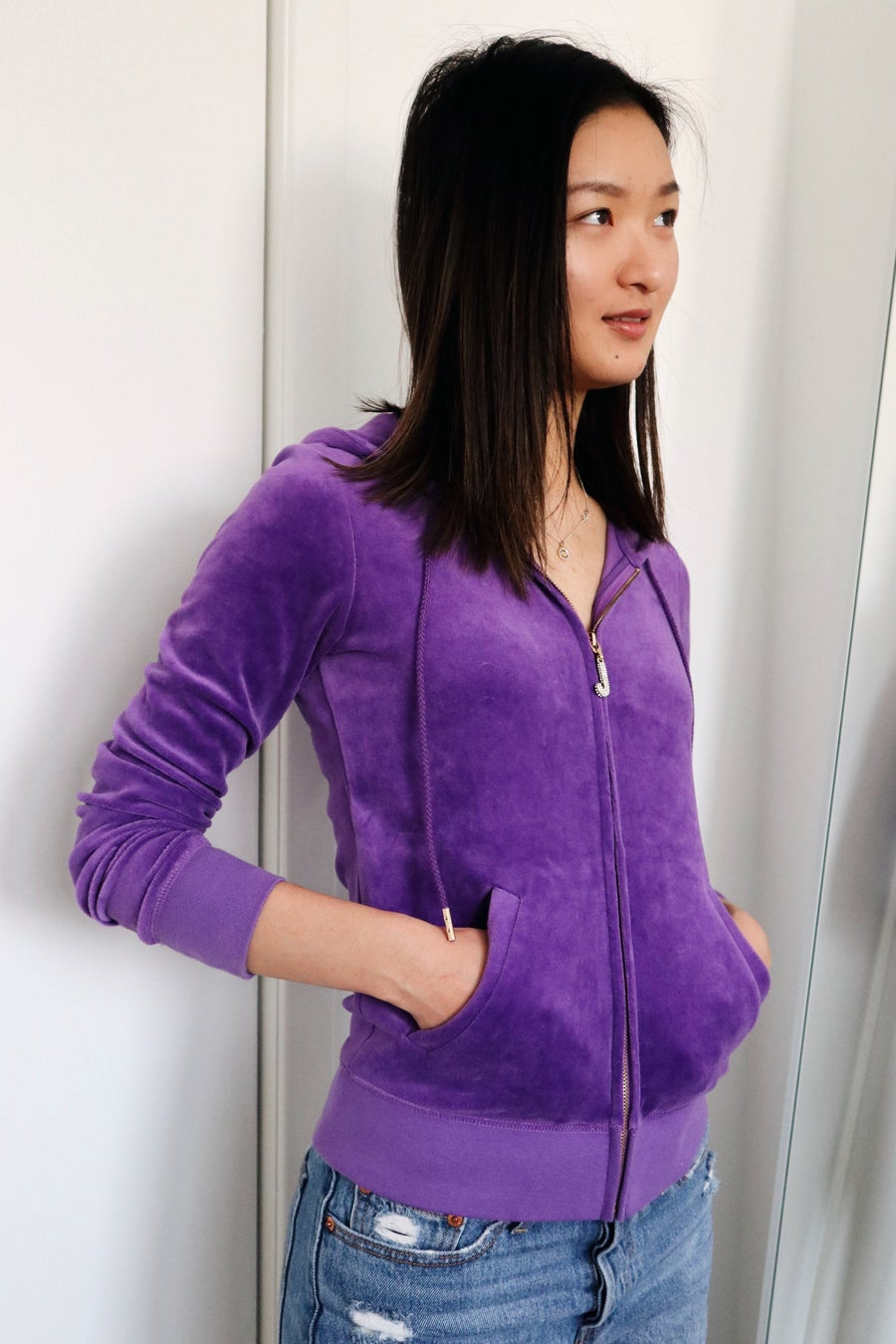 Image of 2000'S JUICY COUTURE VELOUR HOODIE