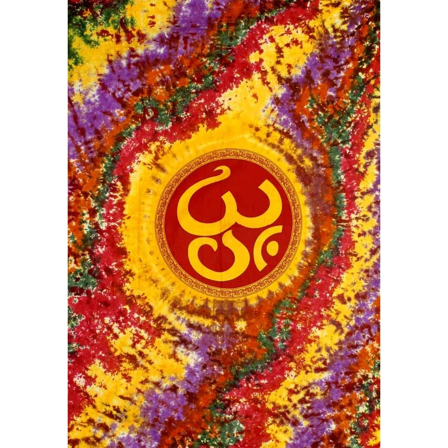 Image of Crazy Tie-Dye OM Tapestry