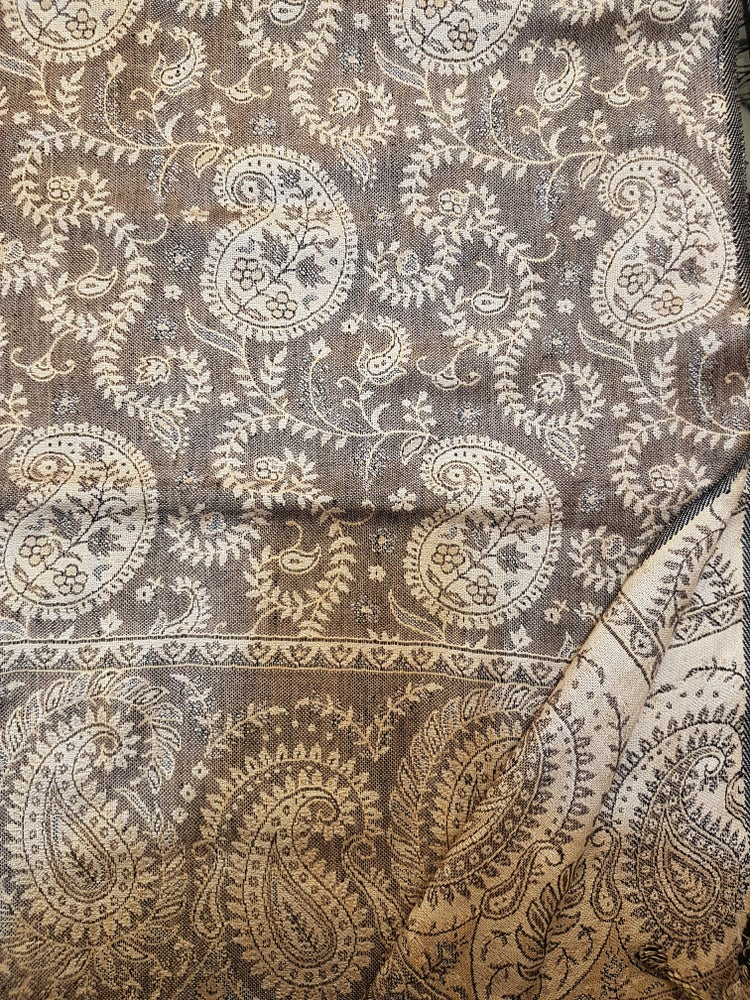 Image of Paisley Scarves Earthy Colors