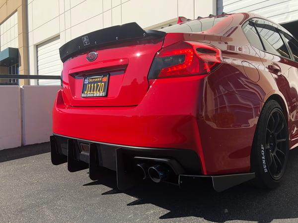 "Image of 2015-2018 Subaru WRX/STi ""V4"" rear diffuser"