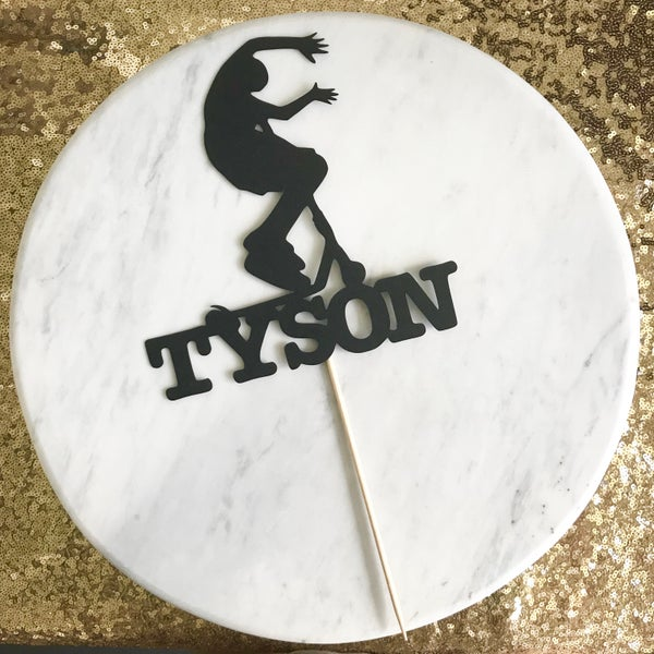 Image of Scooter Trick Cake Topper