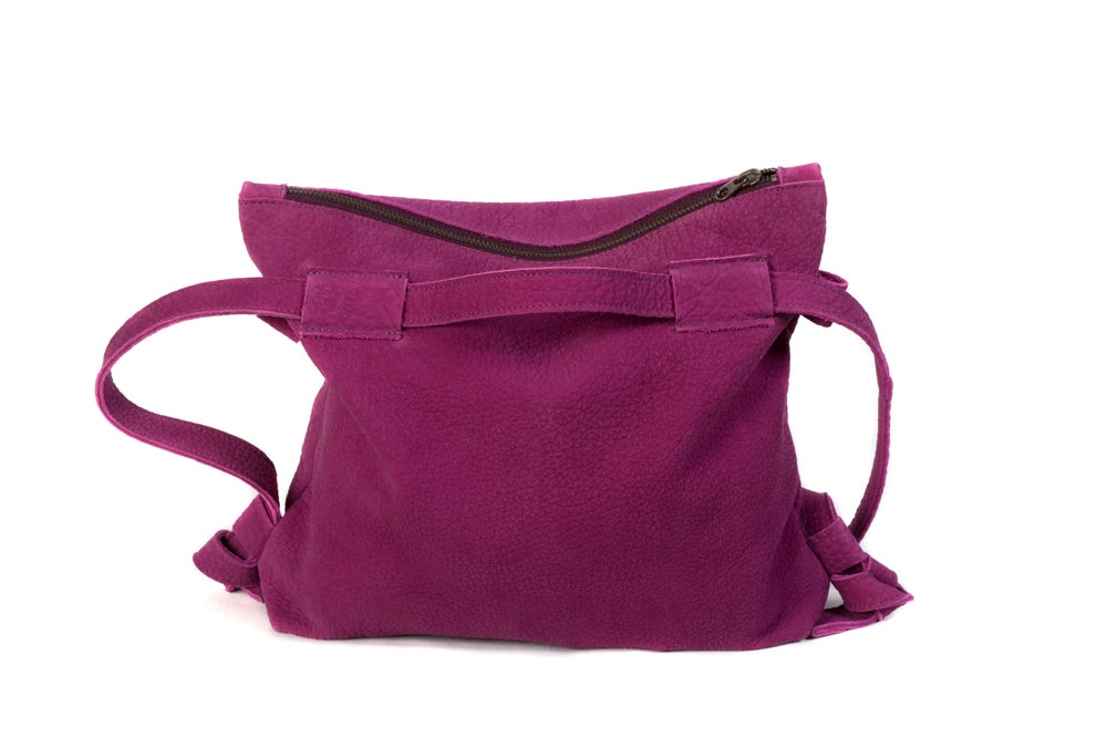 Image of Ebro Convertible Backpack - deep orchid