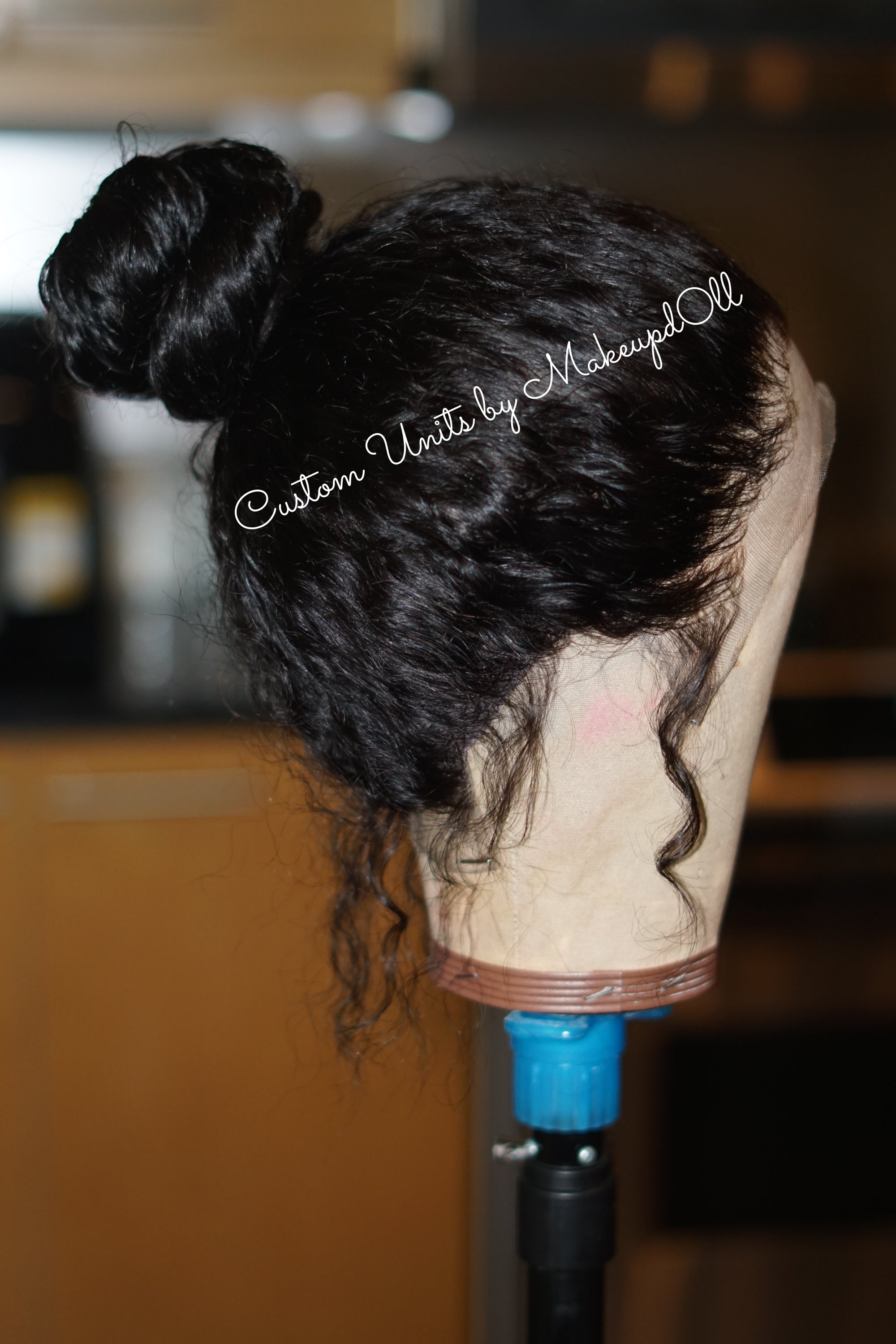 "Image of Indian Wavy/Curly 24"" Custom 360 Frontal Wig!"
