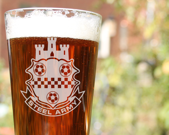 Image of Steel Army Pint Glass