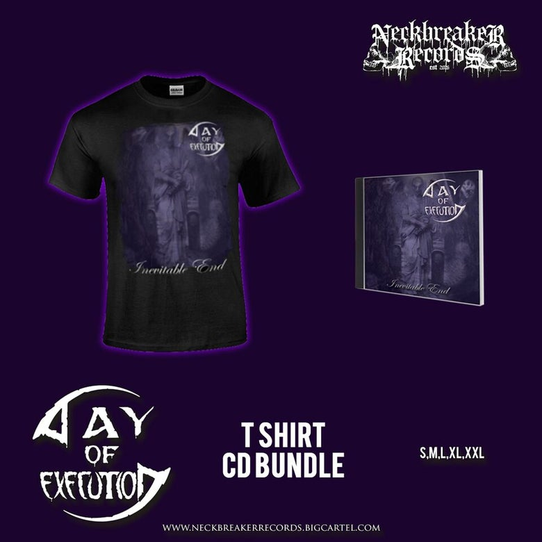 Image of NBR 007 Day of Execution - Inevitable End CD + Shirt Bundle Preorder