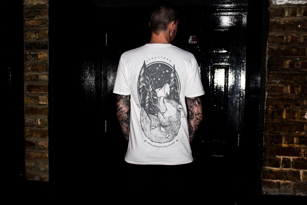 Image of White fox T www.ilovebadger.bigcartel.com