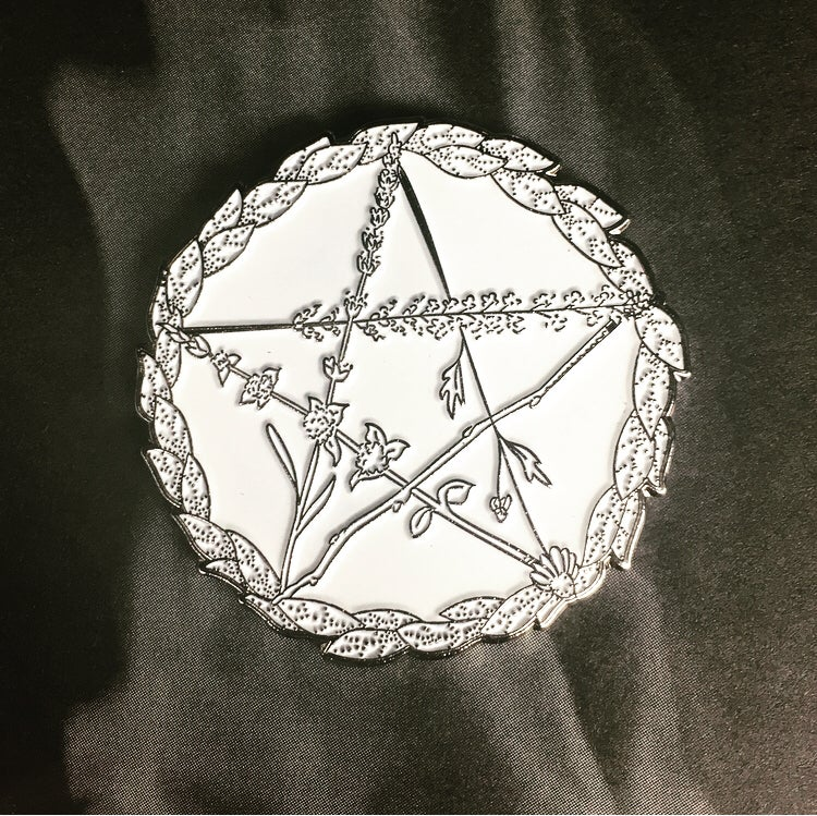 Image of Protection pentacle pin