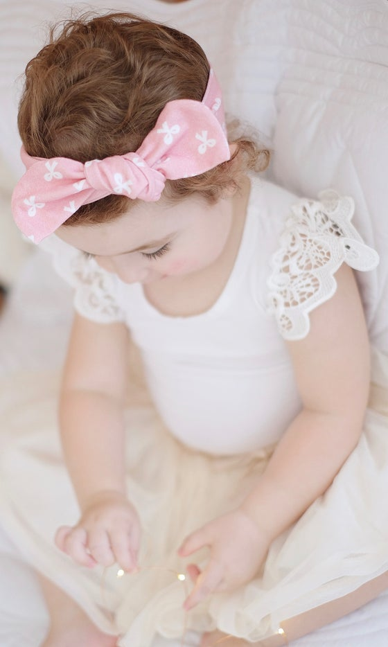 Image of Pink bow topknot