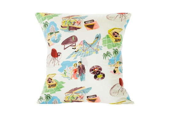 Image of We're all going on a 50s holiday - cushion cover