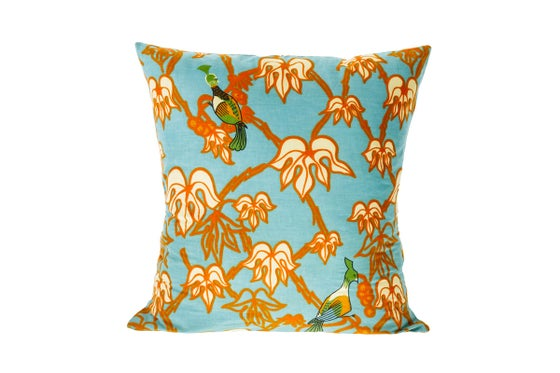 Image of African wax print blue - cushion cover